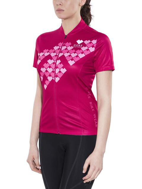 GORE BIKE WEAR Element Digi Heart Fietsshirt korte mouwen Dames roze